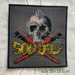 Soulfly Thrash Metal Heavy band Skull Sew On Patch Shirt Trousers Vest Coat Skirt Bag Kids Gift Baby Decoration