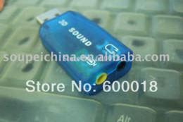 USB 2.0 3D Sound Card 5.1 composants informatiques, audio usb cartes adaptatrices duo mémoire de lecteur de carte de poisson bâton à partir de adaptateurs memory stick fabricateur