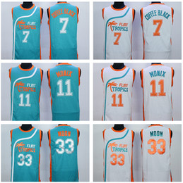Wholesale Best Quality Jackie Moon Jersey Men Shirt Flint Tropics Semi Pro Movie Coffee Black Uniforms Ed Monix Team Color Green White