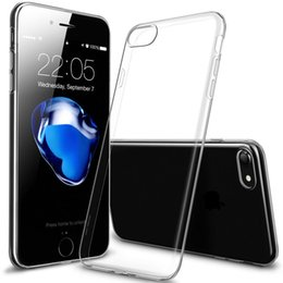 Wholesale Cheap Clear Cell Phone Cases - Apple Ultra-thin Transparent TPU Cellphone Case for iPhone 7 iPhone 7 Plus Cheap Price Clear Cell Phone Cases Cover DHL Free Shipping