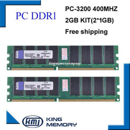 Wholesale Brand New Ram DDR1 GB kit DDR1 GB MHZ PC3200 LONGDIMM support all motherboard lifetime warranty