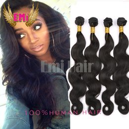 2016 Malaysian virgin hair 4pcs body wave brazilian human hair weaves natural color unprocessed human hair bundles extension 8-26 inch free