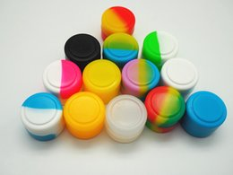 Stock in USA! 10pcs lot 2ML Wholesale-2ml mini silicone jars dab wax vaporizer oil container