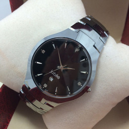Tungsten steel watches 6020 men's watches waterproof ladies watch brand watch high quality quartz watches mirror Sapphire couple of tables