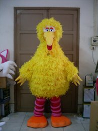 Wholesale 2016 Big Yellow Bird Mascot Costume Cartoon Character Costume Party Adult Size Factory direct