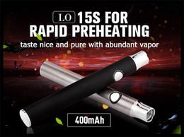 Wholesale cbd hemp oil vape pen manual battery pre heating vape pen smoking bud touch atomizer burning device power supply battery