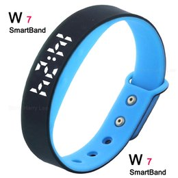 Wholesale 2016 Hot Marketing W7 Bluetooth bracelet calorie pedometer vibrator Fitness Tracker Sport Bracelet Android IOS compatibility
