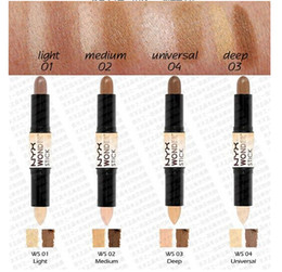 Wholesale 2016 New arrival NYX Wonder stick highlights and contours shade stick Light Medium Deep Universal free stock shipping