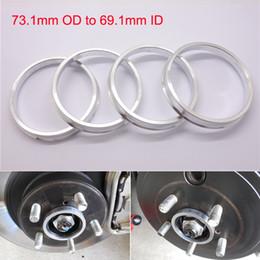 4pcs Brand New Wheel Hub Centric Rings 73.1mm OD to 69.1mm ID Aluminium Alloy