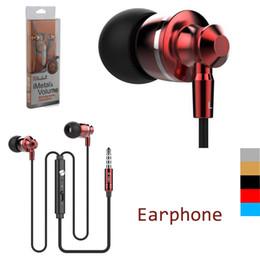 Wholesale Extrabass power in ear Definition mm Plug Metal Headphone Headset Langston M300 Metal Earphone with mic iphone Cellphone EAR185