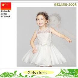 Nouvelles robes de filles de noël en Ligne-2016 Flower Girl Dresses Birthday Party Robes de Noël Children Girl Robes de soirée nouvelle arrivée Livraison gratuite