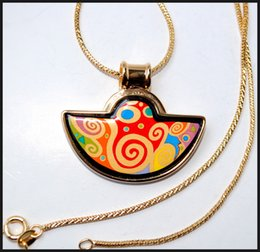 Tree of Life series 18K gold-plated enamel necklaces for woman Fan Pendant Necklace colar women necklace