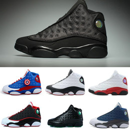2017 high quality air retro 13 XIII men Basketball shoes bred flint grey toe He Got Game hologram baro black cat US 8-13