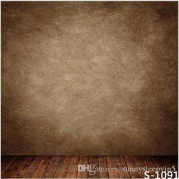 Wholesale Brown Wall Indoor X7ft Children Baby Wedding Photography Vinyl Backgrounds for Photo Studio Gallery Backdrops