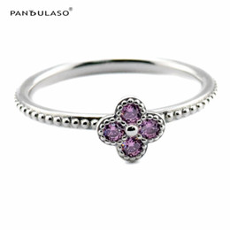 Wholesale Pink Oriental Blossom Ring Sterling Silver Newest Authentic Pure Sterling Ring European Style Woman DIY Rings