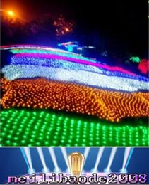 Promotion rgb led net 24V 4 * 6 M 672 LED Net Lumière, faible puissance sûre de soirée de mariage décoration de Noël, 4 couleurs, EU UK AU US Plug Livraison gratuite MYY169
