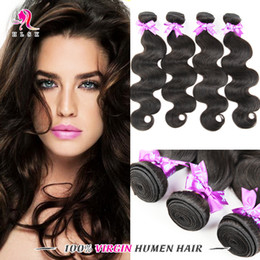 8A Unprocessed Body Weave Brazilian Remy Hair 4 Bundles 1B Virgin Remy Human Hair Extensions Top Quality Body Weave Fast Shipping