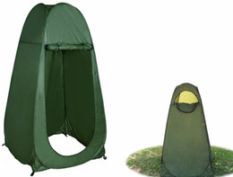 Portable Green Pop Up Tent Camping Beach Toilet Toilette Changing Room Window à partir de fabricateur