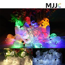 Wholesale Metal Hollow Ball LED String Light led Garland Christmas Light Fairy AA Battery Operation Xmas Wedding Party Room Decoration