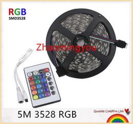YON LED RGB strip light SMD3528 IP20 Fiexble Light 5M 60LED M Waterproof DC 12V+24key controller RGB strip tape lamp