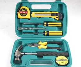 Wholesale 8009p hot home hardware tools car kit nine piece gift set family Z toolbox