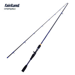 Fairiland 6.6ft 7ft casting rod L UL power baitcasting rod fishing rod high carbon fiber 2 SEC casting fishing accessory
