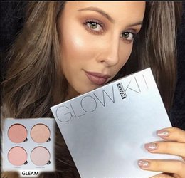 Wholesale 2016 Hot Bronzers Highlight Ana Glow Kit Narual Color Makeup Brighten Face Blush Powder Blusher Palette Cosmetic Blushes Brand Gift Beauty