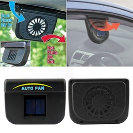 Wholesale 100Pcs New Solar Power Car Window Fan Auto Ventilator Cooler Air Vehicle Radiator vent With Rubber Stripping hot selling
