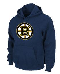 Wholesale 2016 NWT Men s Boston Bruins Hockey Pullover Hoodies Boston Bruins Big Tall Logo Fashion Pullover Sweatshirt Hoody Size S XL