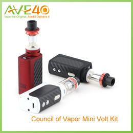 Wholesale Authentic CoV Mini Volt Kit V2 W with Update Mini Volt Box Mod Vengeance Mini Tank and Vengeance Coil DHL