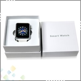 Wholesale Best A1 Smart Watch Bluetooth Smartwatch Phone Support SIM TF Card Smart Watches With Silicone Strap Smartphone inch DHL Free