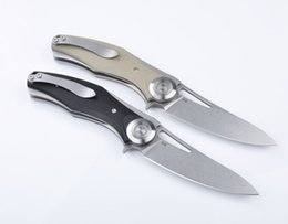 Wholesale 2016 newer green thorn D2 Titanium steel handle Camping Survival Folding Knife Gift Knife Outdoor Tools OEM sample freeshipping