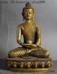 Wholesale Old tibet buddhism Fane pure bronze Sakyamuni Shakyamuni Amitabha buddha statue
