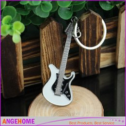 New Arrival Small Cute Metal Guitar Keychain Key Ring Buckle Fashion Jewelry Keychains Keyring Free Shipping