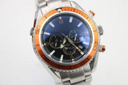 luxury brand watch men orange bezel automatic mechanical Professional waches Co-Axial planet ocean sea master watches men dive wristwatches