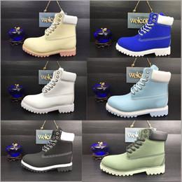 Wholesale Impermeabilice las botas originales del tobillo de Martin de la calidad El trabajo a estrenar de los hombres que va de excursión la nieve al aire libre al aire libre del invierno de los zapatos de la bota multi colorea tamaño
