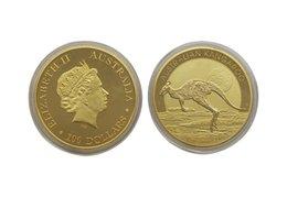 Wholesale 2015 Australian Perth Mint Kangaroo Animal Coin Dollar Troy Oz Elizabeth II Replica Coin Copy
