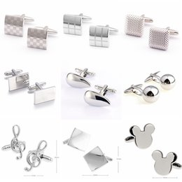 Free shipping tie clips cufflinks metal style factory direct sales of men's shirts mens Cufflinks for mens 9888