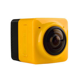 Wholesale CUBE Panoramic Camera Mini Sports Action Camera Build in WiFi Camera H Video Mini Camcorder with GVT100M DSP