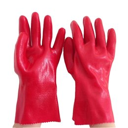 Wholesale 30cm Acid And Alkali Resistant Glove Corrosion Preventive Safety Glove For Oil Related Workers PVC Working Gloves