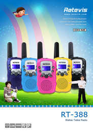 Wholesale 2pcs US Frequency Children Walkie Talkie Retevis RT UHF MHz W CH LCD Display Flashlight VOX Two Way Radio A7027