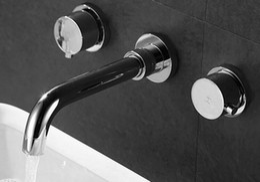 Wholesale wall mounted faucet bath mixer bathroom cabinet double wall mounted mixer basin faucet BF018