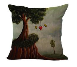 Love painting hanging in a tree nature pillow massager decorative pillows fiber emoji enjoyment home decor emoji enjoyment