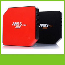 Wholesale 2016 New Original M8S Plus Android TV Box With LCD Quad Core Amlogic S905 G G ROM KODI