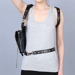 Cheap Retro Womens Shoulder Bags Punk Style Fashion Designer Shoulder Bags Casual Skull Shoulder Crossbody Bags