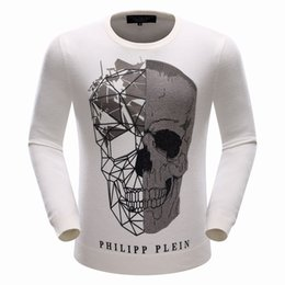 Wholesale 2016 New PP Brand Men Wool Sweater Autumn Winter O neck Thick Kintwear Pullover PHILIP PLEIN Mens Sweaters High Quality