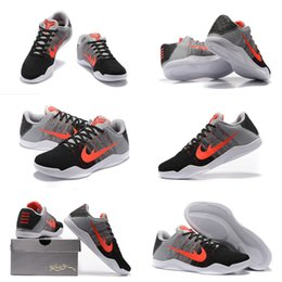 Wholesale With shoes Box High Quality Kobe XI Bryant Tinker Hatfield Muse Pack Grey Red Black Men Basketball Sport Trainers Shoes