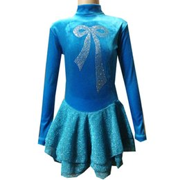 Simple Design High Neck Skating Dress Girls And Women Long Sleeve Spandex Good Quality Dancing Dress On the Ice
