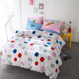 Wholesale 100 Cotton Colorful Beat melody set Bed Linings Bedsheet Bedding Set Bedclothes Home Textile Environmental Choices