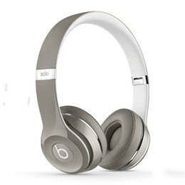 Wholesale Newest Used Beats Solo2 wired Luxe Edition collection Headphones Noise Cancel Headphones Headset Refurbished with seal retail box DHL FREE